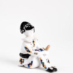 Pezzo Unico in Ceramica Invetriata Dipinta a Mano_ Arlecchino